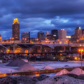 Nothing captures Cleveland like this spot for me. A beautiful skyline built to  rise over an industrial city. No matter how it changes, how much sci-tech takes over...Cleveland will always be a city where a blue collar was a badge of honor. by Tom Baker - City,  Street & Park  Skylines