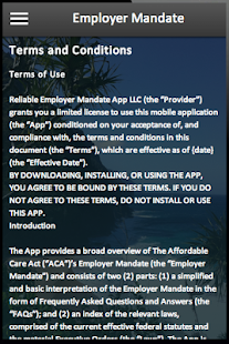 Employer Mandate - screenshot