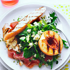 Grilled Peach Salad with Rosemary Dressing