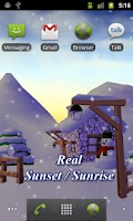 Screenshot of Winter 3D Live Wallpaper