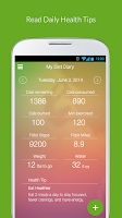 Screenshot of My Diet Diary Calorie Counter
