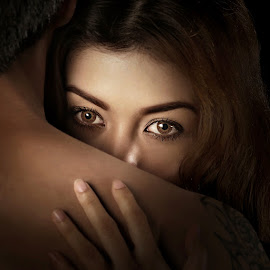 The Secret by Lucky E. Santoso - People Portraits of Women