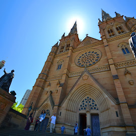 St Marys Cathedral by Kamila Romanowska - Buildings & Architecture Places of Worship ( catholic, building, church, australia, cathedral, public, sydney )