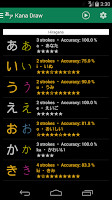 Screenshot of Kana Draw (Hiragana Katakana)