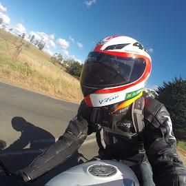 Hitting the Corner by Darcy Brown - Transportation Motorcycles ( babyblade, honda, cbr, racing, fireblade )