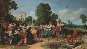 RIJKS: Dirck Hals: The Fête champêtre 1627