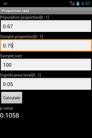 Proportion Test