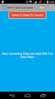 Screenshot of MP3 Video Converter