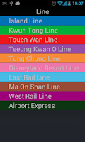 Screenshot of Go MTR to find Hong Kong MTR
