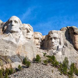 Mt. Rushmore by Michael Buffington - Buildings & Architecture Statues & Monuments ( park, america, blue, green, american, monument, mt. rushmore, gray )