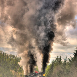 Where There's Smoke by Vicki Pardoe - Transportation Trains ( steam engine, cass, west virginia, steam train, train, whittaker station )