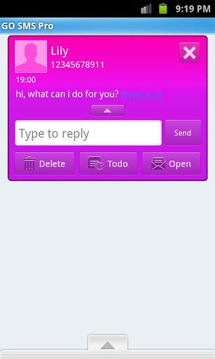 玩免費通訊APP 下載GOSMSTHEME瘋粉紅! app不用錢 硬是要APP