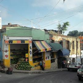 Papantla Market by Shane Adams - City,  Street & Park  Markets & Shops ( papantla, market, mexican, mexico, travel, watermelon, veracruz )