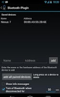 Screenshot of Delayed Lock Bluetooth Plugin