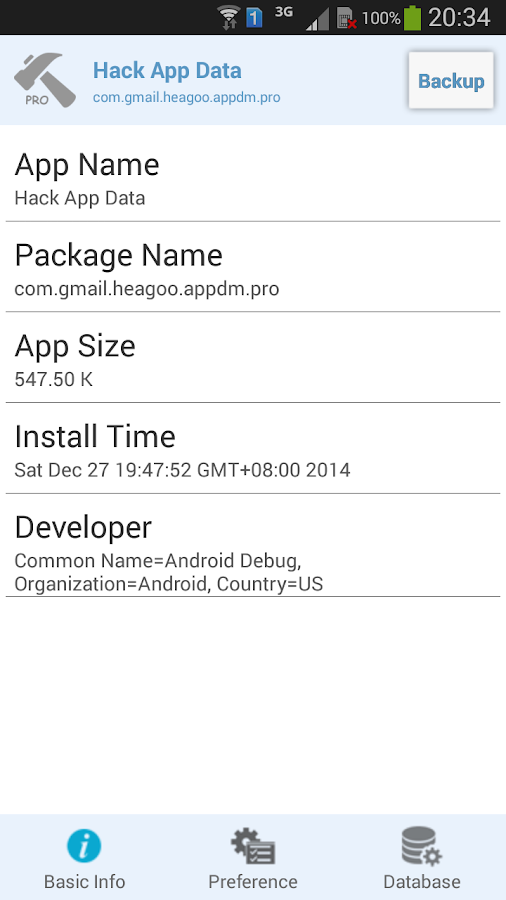 Hack App Data Screenshot 2