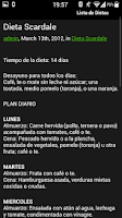 Screenshot of Dietas para bajar de peso