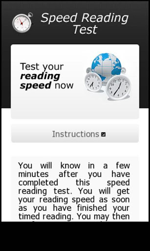 Reading Speed Test