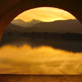 Looking Through Window by Linda Brueckmann - Landscapes Sunsets & Sunrises