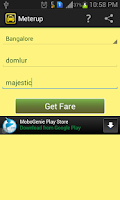 Screenshot of MeterUp! cab taxi auto fare