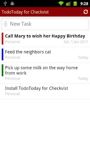 TodoToday for Checkvist