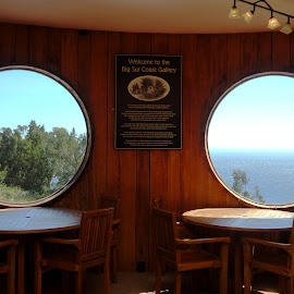 Inside restaurant view of Big Sur by Tammy Tran - Buildings & Architecture Other Interior ( glass windows, views, windows, travel, big sure )