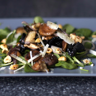 Warm Mushroom Salad With Hazelnuts