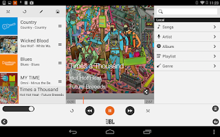 Screenshot of JBL Music
