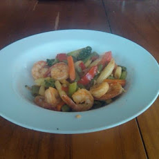 Sweet Chilli & Garlic Shrimp/Prawn Stir Fry