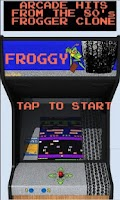Screenshot of Froggy (Frogger clone)