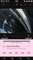 Screenshot of Poweramp Cool Pink Skin 5 in 1