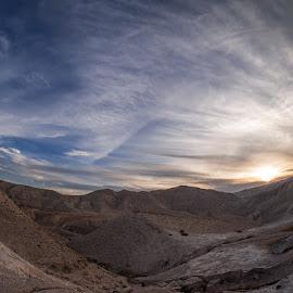 The Judaean Desert by David Solodar - Landscapes Deserts ( sunset, the judaean desert, israel )