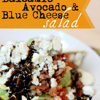 Balsamic Avocado and Blue Cheese Salad