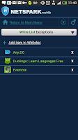 Screenshot of NetSpark Parental Control
