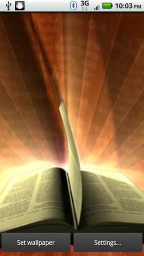 Bible Rays 3D Live Wallpaper