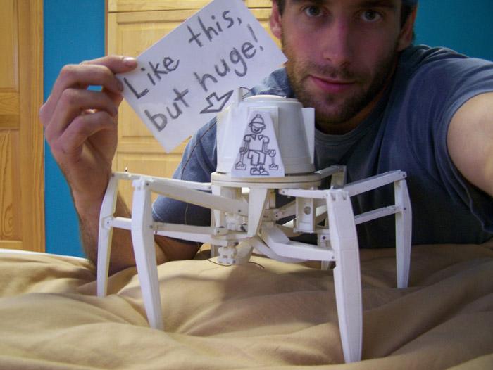 LikethisB | Maluco quer construir robô aranha gigante | curiosidades 2 bizarro    Curiosidades