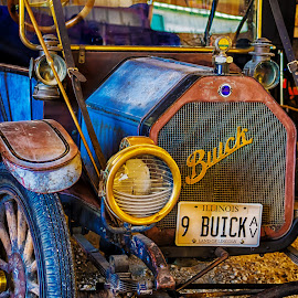 Old Buck by James Kirk - Transportation Automobiles ( car, old, blue, convertable, buick )