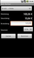 Screenshot of Mehrwertsteuer-Rechner