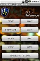Screenshot of WeakNet Labs MySQL Reference