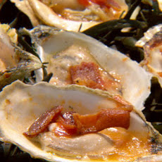 Barbecued Oysters with Bacon and Garlic Butter