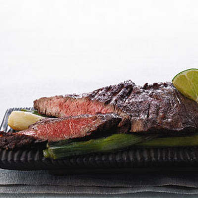 Sauteed Skirt Steak with Braised Scallions