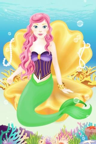 mermaid-dress-up-lite for android screenshot