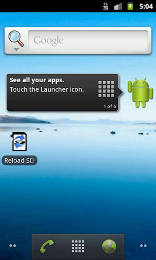 reload-sd-card for android screenshot