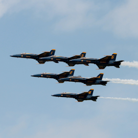 Blue Angels by Steve O'Donnell - Transportation Airplanes ( sky, airplanes, demonstration, air show, blue angels )