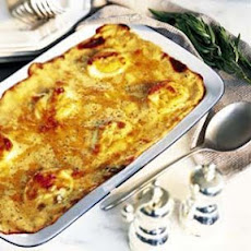 Ham and Cheddar Cheese Gratin