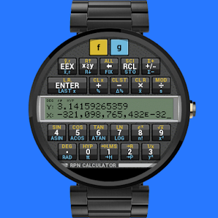 RPN Calculator for Wear - screenshot