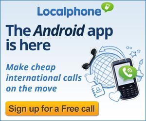 android, app, cheap international calls, localphone