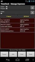 Screenshot of TimeClock - Time Tracker