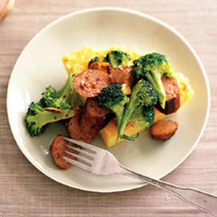 Parmesan Polenta Pie with Sausage and Broccoli