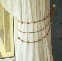 Como hacer una abrazadera para la cortina con mostacilla - Abrazaderas para cortinas ...