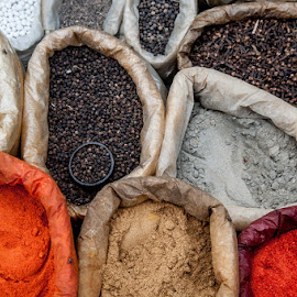 Spices by Indrajit Lahiri - Abstract Patterns ( #kolkata, #color, #kolkatastreet, #pattern, #spices )